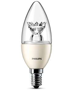 Philips E14 SES 6 Watt LED Dimmable candle bulb £6.69 (Prime)  / £10.68 (non Prime) Sold by STARLIGHT LIGHTING and Fulfilled by Amazon.