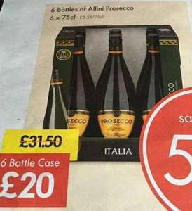 6 bottles of Allini prosecco £20 Lidl
