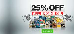 Carparts4less are doing 25% off all engine oils