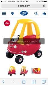 Little Tikes Cozy Coupe Classic at a 25% discounted price of £41.24 in Boots