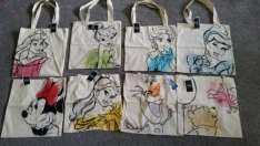 Disney hessian tote bags £1 in Poundland (Aladdin beauty and beast Pinocchio etc)