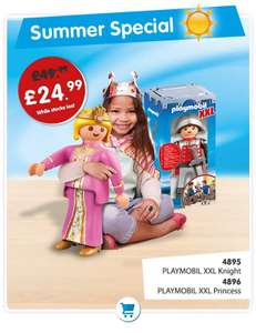 Playmobil XXl knight and princess half price was £49.99 now £24.99