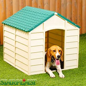 Starplast Dog Kennel (Cream/Green) Approx. Measurements: H68 x W72 x D71.5cm ONLY £29.99 C+C @ Home Bargains