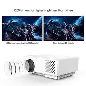 Projector, RD810 1200 Lumens LCD Mini Projector, Multimedia Home Theater Video Projector £59.99 Del @ Amazon (Sold by dvtecheu and Fulfilled by Amazon)