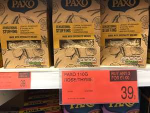 Paxo 110g lemon,rosemary,thyme 39p or 3 for £1 at B&M Bargains
