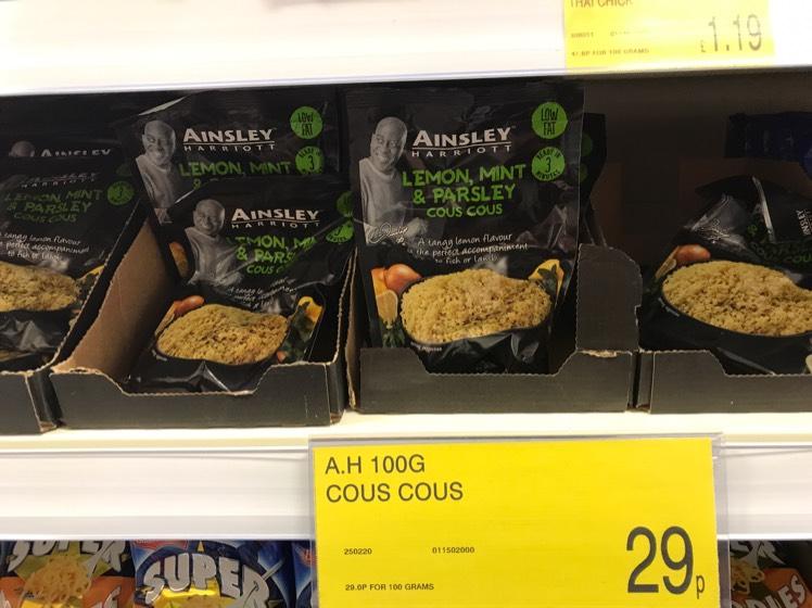 Ainsley Harriott 100g Lemon,Mint & Parsley Couscous 29p @ B&M Stores