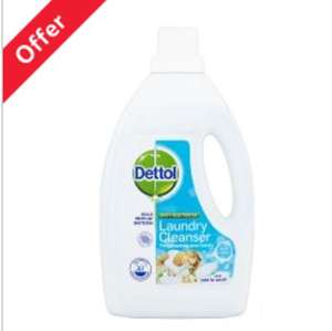 Dettol Laundry Cleanser Fresh Cotton 1.5L @ Tesco £3 down from £4.50