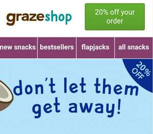 20% off in the Graze Online Shop