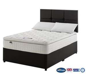 Silentnight denver king size divan bed with 2 drawers for King size divan bed with drawers
