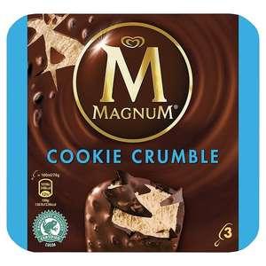 Box of 3 Magnum Cookie Crumble Ice Creams £1.49 in store at Home Bargains