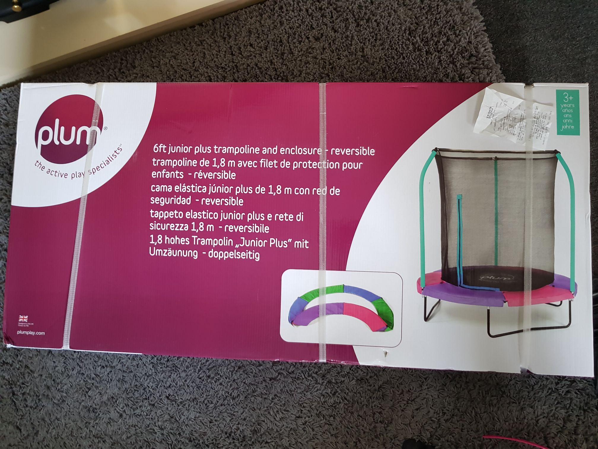 Plum 6ft Trampoline & enclosure - £23.75 instore at Tesco Hanley