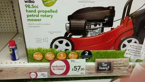 Wilko Petrol Rotary Lawn Mower instore for £57.50