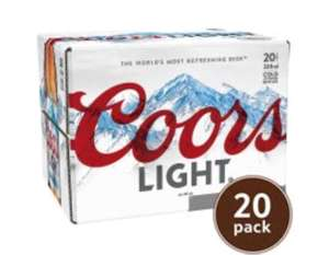 Coors Light 20x330ml only £10 in Tesco online and instore