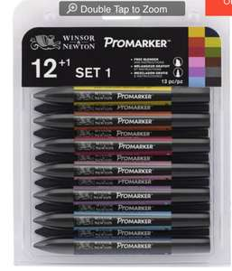 Winsor & Newton Promarker Pens 12 Pack £9.50 reduced from £19 @ Hobbycraft. Half price art supply sale!!!