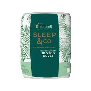 Coloroll Sleep & Co Duvet 10.5 TOG - Single was £9.99 now £4.99 Double was £13.99 now £6.99 King was £19.99 now £8.99 @ Poundstretcher