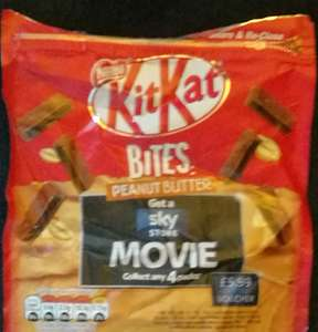 Tesco: Kit Kat Bites 104g down to £1 (from £1.50). Buy 4 get a free Sky Store movie to keep (worth £5.99).