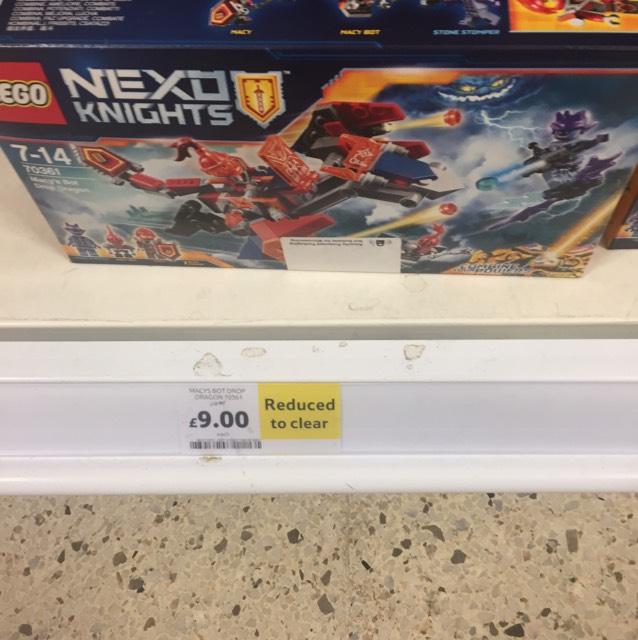Lego nexo knights £9 instore @ Tesco Dalmarnock