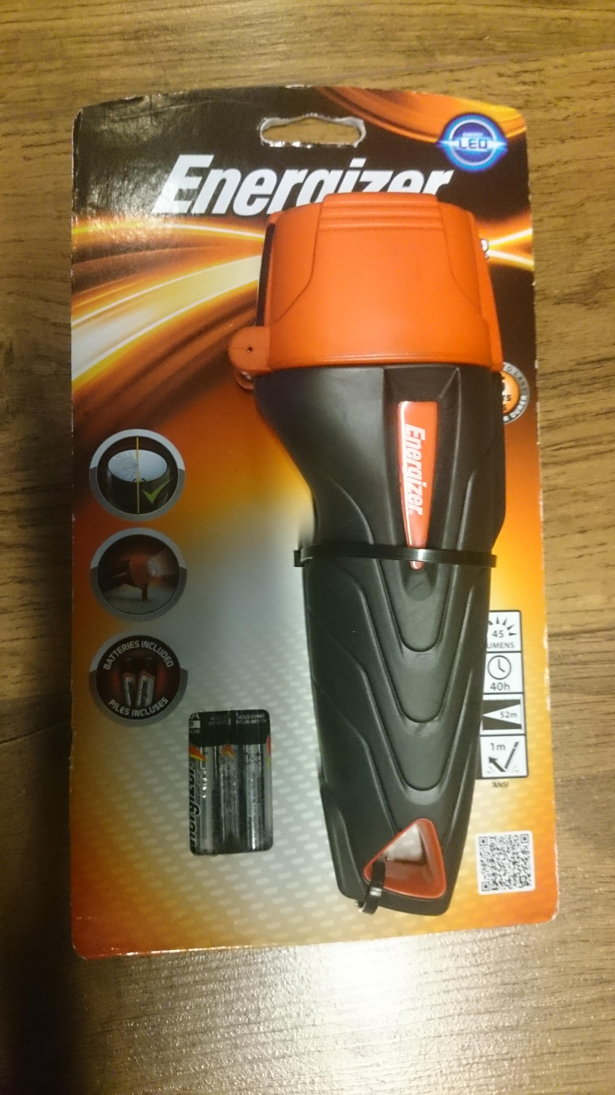 Energiser impact torch 45 lumens £3 instore @ B&Q Ashton Under Lyne
