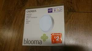 CADMUS MAINS LED WALL LIGHT 6500K IP54 £2 instore @ B&Q