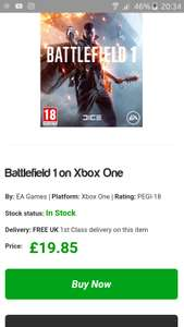 Battliefield One - Xbox One £19.85 @SimplyGames