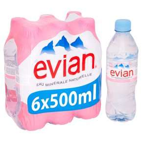 Evian still mineral water 6x50cl @waitrose 2 packs for £4 each costs only 33p