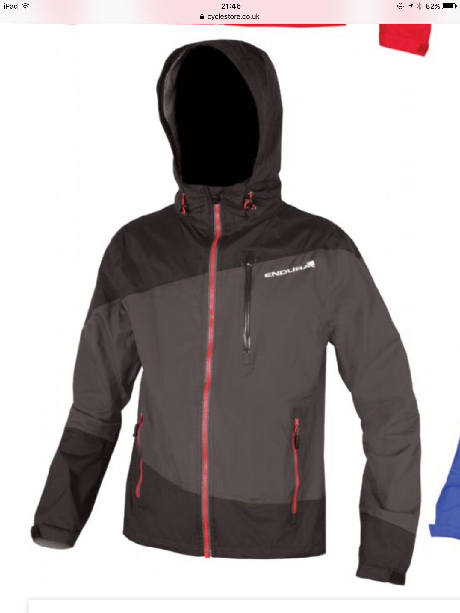 Endura singletrack waterproof mountain bike mtb jacket (blue or black) all sizes s-xl now £59.50 @ leisure lake bikes