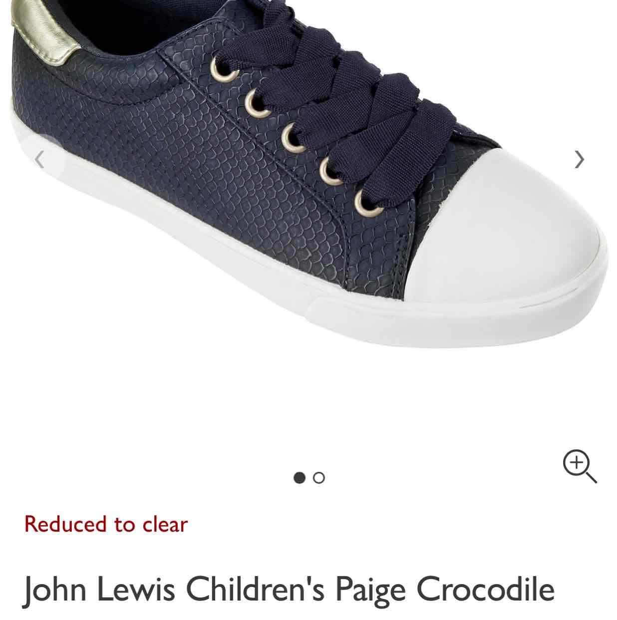 John Lewis Boys Trainers £5 instore