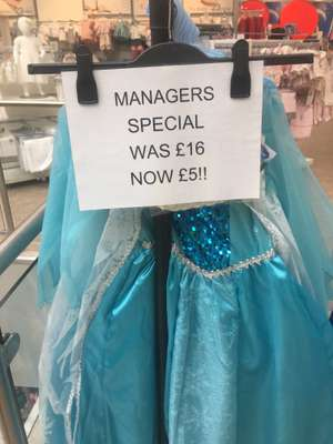 Frozen dress instore at Matalan for £5