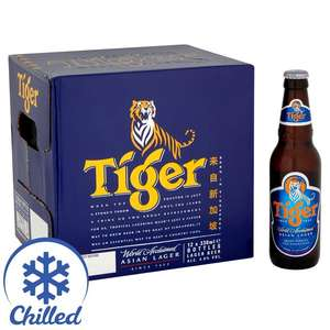 Tiger lager 12 bottles @ morrisons in store or online  - £8