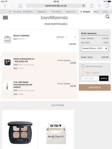 Surprise 6 piece set + free deluxe eyeshadow bb cream sample + free eyeshadow palette (all worth £148) for £35 delivered at Bare Minerals online