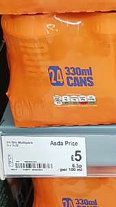 24 Cans of Irn Bru £5 instore @ Asda (just over 20p per can)