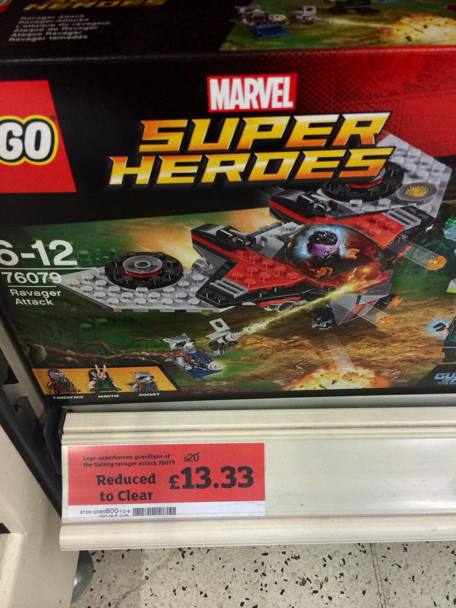 Lego Marvel 76079 GOTG Ravager Attack £13.33 @ Sainsbury's - Lisburn & Holywood Exchange Stores