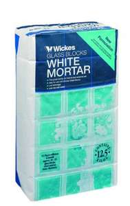 Wickes Glass Block Mortar Mix Adhesive 12.5kg 50p free click and collect