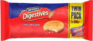 McVitie's Digestive Biscuits (2 per pack - 1Kg) was £2.00 now £1.50 @ Sainsbury's