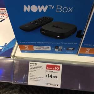 NowTV with 2 months movie pass £14.99 @ Currys - South Ruislip store (London)