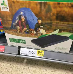 Double airbed - £5.00, single airbed £4.00 at Tesco - Horwich