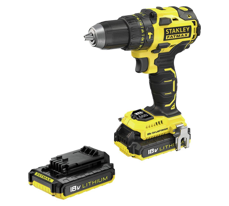 Stanley Fatmax Brushless Cordless Hammer Drill 2x 18v 2.0ah Batteries £89.99 @ Argos