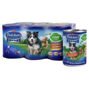 Butchers Original Recipes Dog Food 6 X 400g - £1.25 Asda Instore