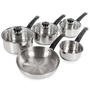 Morphy Richards Equip 5 Piece Pan Set - Stainless Steel - £34.99 @ Amazon