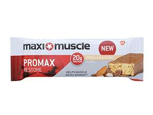 Maximuscle Promax High Protein Bar, 60 g - Vanilla and Almond, Pack of 12, £11.99 Prime / £14.98 Non Prime with voucher @ Amazon