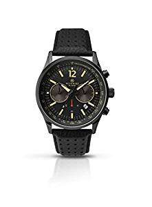Accurist Men's Quartz Chronograph Watch with Black Leather Strap £30.93 Del @ Amazon
