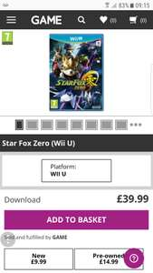 Star Fox Zero (Wii U) £9.99 @ Game