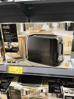 2 slice toaster from £10 to £4.17, Black only.  Asda Wakefield