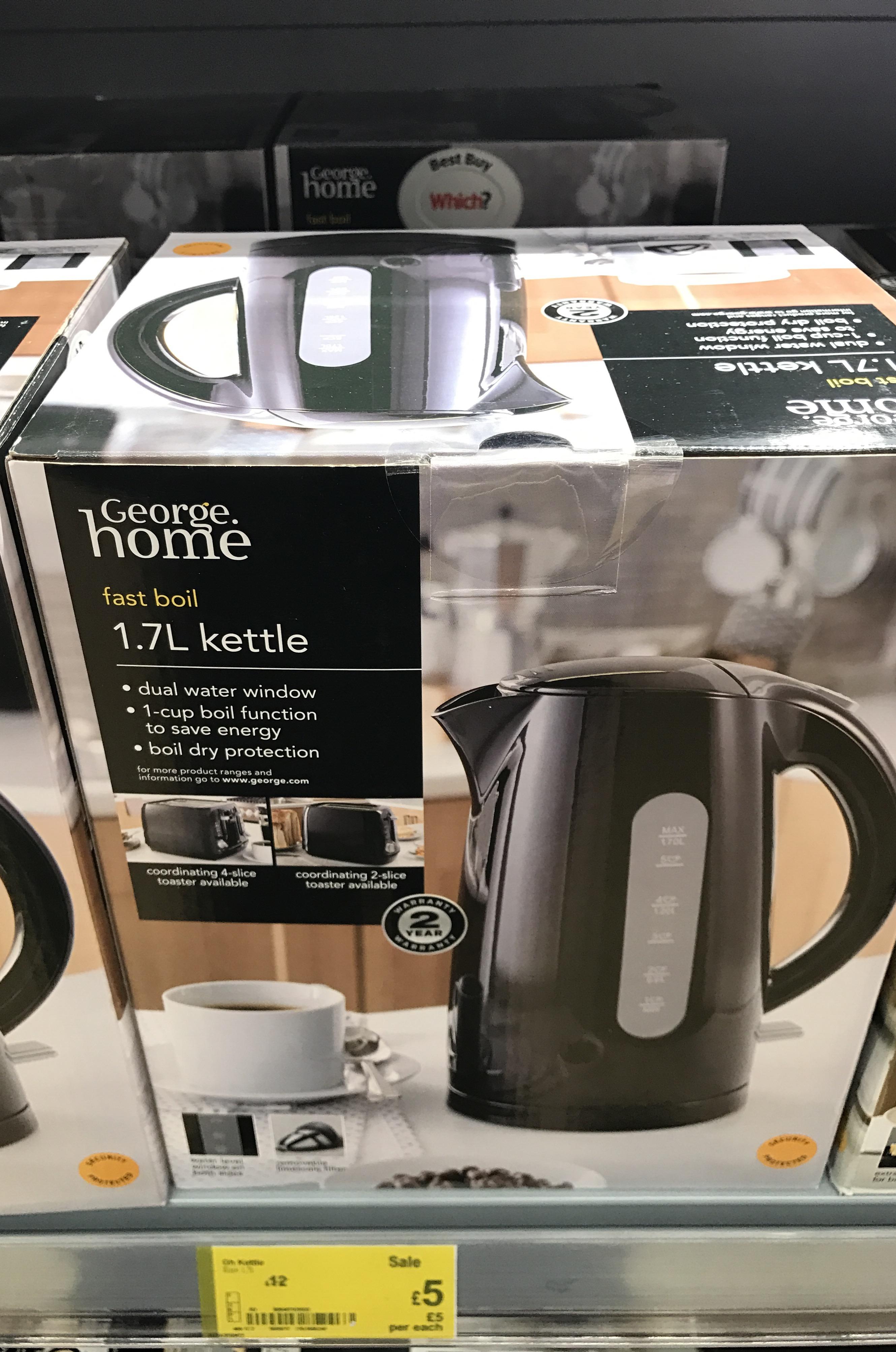 Black Kettle 1.7ltr £5 @ Asda instore - Wakefield