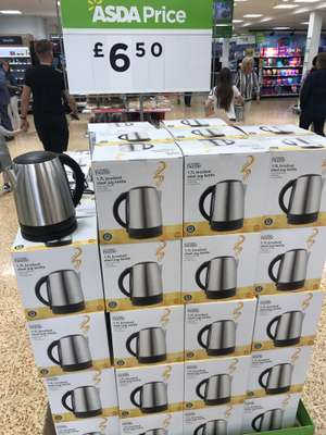 Stainless Steel Kettle 1.7ltr £6.50 @ Asda - Wakefield
