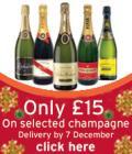 Champagne £15/bottle at Sainsburys