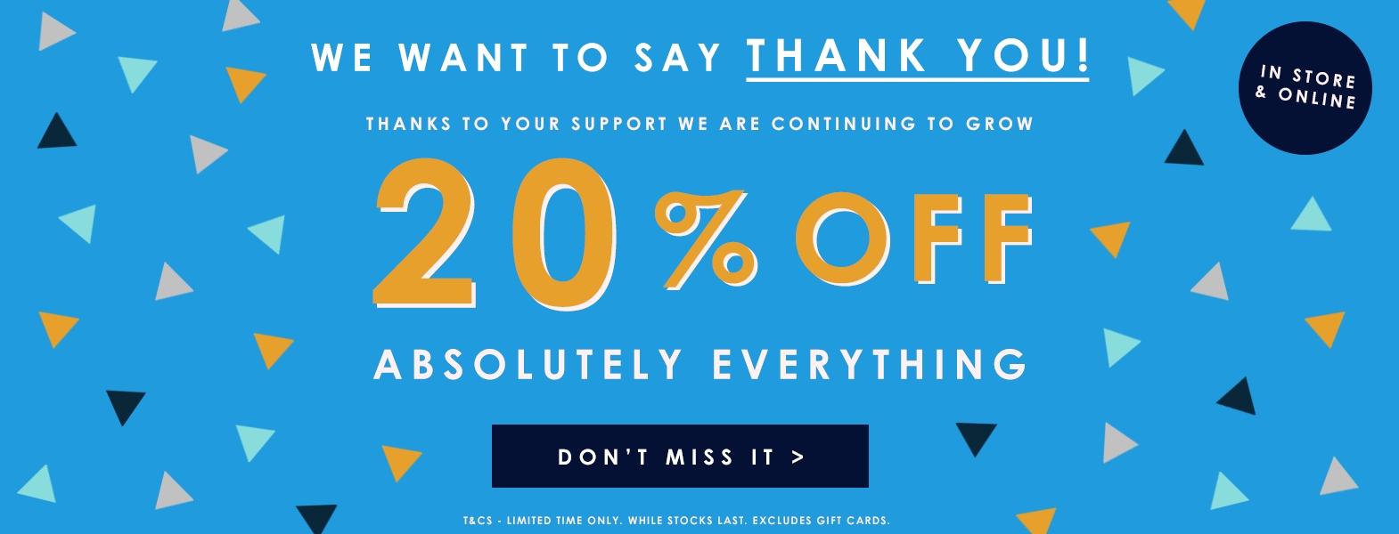 20% off at Big and Tall mens clothing @ Bad rhino