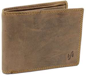 Gift Boxed Starhide RFID Blocking Distressed Hunter Brown Real Leather Wallet £11.04 Prime / £15.03 Non Prime Sold by WALLETS KING and Fulfilled by Amazon
