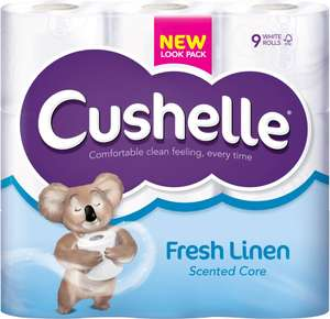 Cushelle Toilet Tissue White (9) ONLY £3.00 @ Costcutter