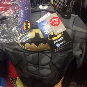 Batman costume half price plus another 25% off at Sainsbury's (Sydenham) - £5.62